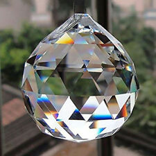 DIY 50mm Feng Shui Hanging Crystal Ball Sphere Prism Rainbow Suncatcher Pendant