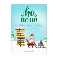30 christmas tree santa claus holiday greeting cards personalized