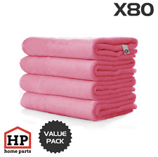 80 X Professional Washable Microfibre Cloths Extra-Large Super Thickness Pink