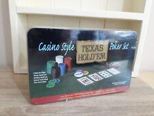 Texas Hold Em Poker Set Casino Style Game - NEW