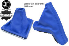 BLUE TOP GRAIN REAL LEATHER GAITER SET FOR VAUXHALL OPEL ASTRA MK5 H 2004-2009