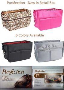 PURSFECTION Purse Organizer 12 Pockets & Zipper NEW w/Retail Box 1 yr Warranty