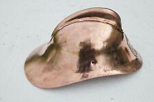 Vintage Soviet  fireman copper plated steel helmet