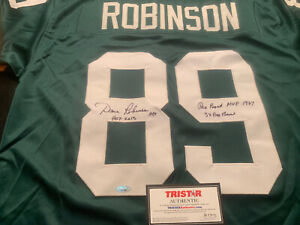 Dave Robinson Autographed Jersey Green Bay Packers HOF Inscribed Tristar COA