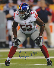 GREG JONES SIGNED NY GIANTS 8x10 JAGUARS TITANS MICHIGAN STATE CFL ROUGHRIDERS