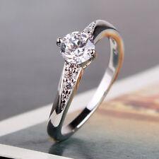 Pleasing lady gift!  white gold filled smart white sapphire ring Sz5/J-Sz9/R