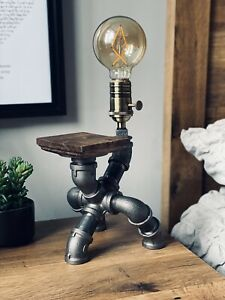 Industrial Steam Punk Style Pipe Light Steampunk Desk Table Bedroom Lamp Light