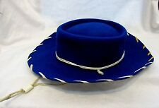 1950s AUTHENTIC BLUE WOOL WESTERN COWBOY / COWGIRL HAT SIZE LARGE