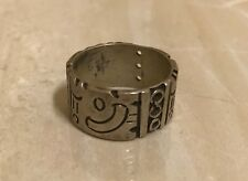 Taxco Mexico Sterling Silver Ring Band Size 7.5