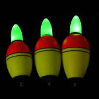2x Night Light Fishing Floats Fishing Tackle Electronic Light Bobber 20g 30g 35g