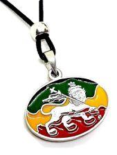 Lion de Juda Pendentif Rasta Bob Marley Ragga - Jamaïque Drapeau Perlé