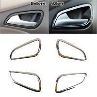 Fit For Ford Focus Mk3 12-14 Chrome Interior Inner Door Handle Bowl Cover Trim