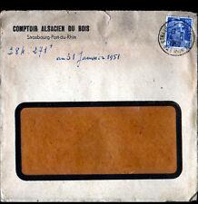 STRASBOURG (67) COMPTOIR ALSACIEN DU BOIS , voyagée en 1951