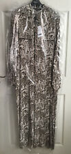 BNWT Next Tailoring Tiger Print Maxi Shirt Dress Size 14