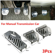 3Pcs Foot Pedals Pad Covers Manual Transmission M/T for Brake Clutch Accelerator