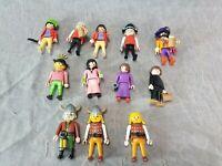 Lot 12 Vtg PLAYMOBIL Mini Figure Vikings Pirates Towns People Geobra 1980-90's