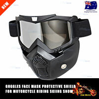 Motocross Goggles Face Dust Mask Detachable Motorcycle Oculos Gafas Mouth Filter