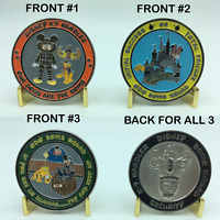 Disney  Bomb Squad K-9 Handler Challenge Coin Set