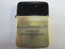 1950s wartime Berkeley advertising lighter St. Helens Quality Handles Oregon