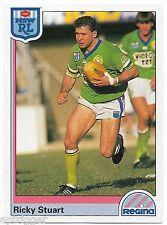 1992 NSW Rugby League REGINA Base Card (150) Ricky STUART Canberra Raiders