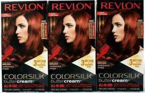 (Pack of 3) Revlon Colorsilk Buttercream Vivid Hair Color 49RC Deep Copper Red