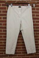 NEW Talbots Womens Pants Size 18W Newport Slacks Elastic Waistband Plus Khaki