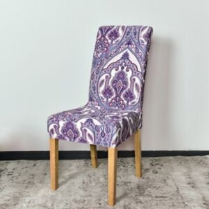 Dining Room Chair Cover Spandex Stretch Seat Slipcover Home Decor Purple Paisley