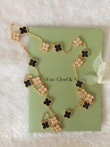 Van Cleef & Arpels Onyx 20 motif necklace  Yellow gold x Onyx Black