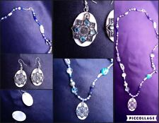 Set of Snowflake Earrings & Necklace