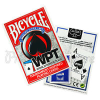 2 Decks x Bicycle WPT playing cards World Poker Tour Jumbo index Red or Blue NEW