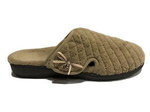 Vionic Women's Induldge Adilyn, Tan Slippers, Size 12 M.