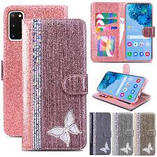 Bling Glitter Diamond Leather Wallet Flip Cover Case for Samsung S20 S10 S9+ S8