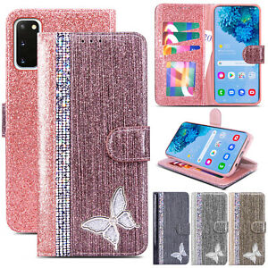 Bling Glitter Diamond Leather Wallet Flip Cover Case for Samsung S20 S10 S9 A21s