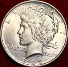 UnCirculated 1923  PHILADELPHIA MINT PEACE SILVER DOLLAR, White Brilliance Coin