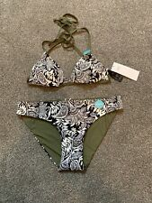 Neues AngebotM&s Bikiniset Oberteil Größe 12 unten 10 Reversible schwarz weiß khaki Neckholder BN