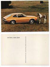 1971 FORD PINTO TWO-DOOR SEDAN Factory Postcard HORSE