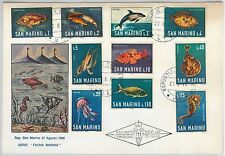 SAN MARINO -  POSTAL HISTORY - FDC COVER to ITALY 1965 - FISH Dolphin OCTOPUS