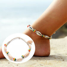 Natural Shell Colorful Bead Anklet Cord Charm Bracelet Boho Beach Foot Jewellery