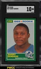 1989 Score Football Barry Sanders ROOKIE RC #257 SGC 10 GEM MINT