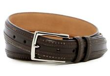 NWT - Cole Haan 30mm Feather Edge Stitched Dark Roast Leather Belt Size 36