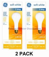 GE 3 Way Incandescent Mogul Base Bulbs 100/200/300 Watt PS25 Soft White 2 PACK