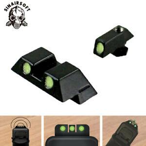 Tactical Fiber Optic pistol Night vision Glow Sight for Glock 17 19 22 24 26 33