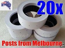 20x Rolls Price Labels White 21mm x 12mm for Motex MX-5500 / CN5500 5500 etc