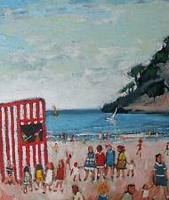 Simeon Stafford Original Oil Painting - The Punch And Judy Show (Cornish Art)