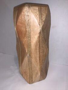 "Threshold Vase Munggur Wood Geometric Modern Target 2014 9x4"""
