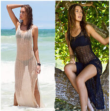 MAGASCHONI FABULOUS CROCHET STRAPPY DRESS SEXY FIGURE-HUGGING LO-CLVG NWT S