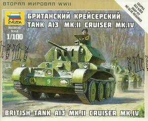 Zvezda 1/100 (15mm) A13 Mk II Cruiser Tank
