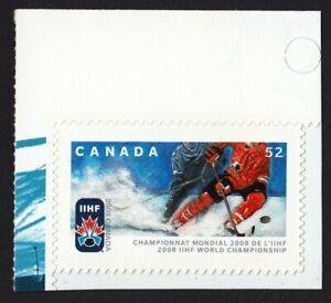 IIHF HOCKEY CHAMPIONSHIP = Canada 2008 #2265 MNH Stamp from BKLT