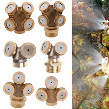 Brass Spray Misting Nozzle Garden Sprinklers Fitting 2-4 Head Spray Connector