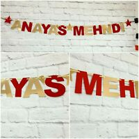 Personalised Mehndi Banner party decorations bunting